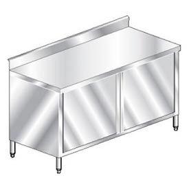 "Aero Manufacturing 4TGSOHD-2472 72""W x 24""D Economy Cabinet, 2-3/4"" Backsplash, Hinged Doors, Galv."