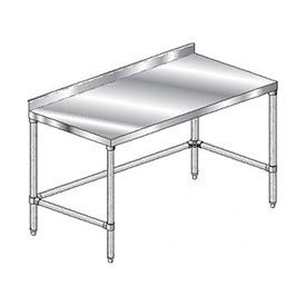 "Aero Manufacturing 4TGSX-24144 144""W x 24""D Stainless Steel Workbench, 2-3/4"" Backsplash"