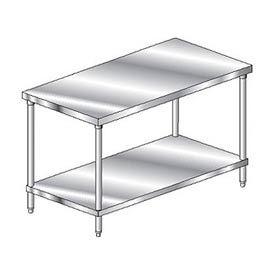 "Aero Manufacturing 4TS-2424 24""W x 24""D Economy Flat Top Stainless Steel Workbench w/ Undershelf"