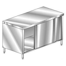 "Aero Manufacturing 4TSOD-24120 120""W x 24""D Economy Flat Top Cabinet, Sliding Doors"