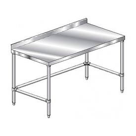 "Aero Manufacturing 4TSSX-24108 108""W x 24""D Stainless Steel Workbench, 2-3/4"" Backsplash"