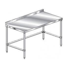 "Aero Manufacturing 4TSSX-24120 120""W x 24""D Stainless Steel Workbench, 2-3/4"" Backsplash"