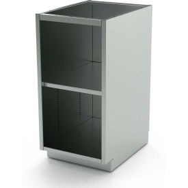 """Aero Stainless Steel Base Medical Cabinet BC-1001 - Open, 1 Shelf, 24""""W x 21""""D x 36""""H"""
