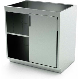 Aero Stainless Steel Base Medical Cabinet BC-1303 - 2 Sliding Doors 1 Shelf, 48 x 21 x 36