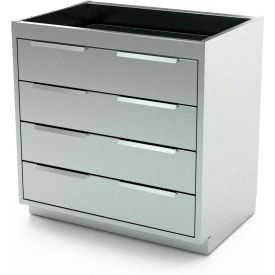 "Aero Stainless Steel Base Medical Cabinet BC-3303 - 4 Drawers, 48""W x 21""D x 36""H"