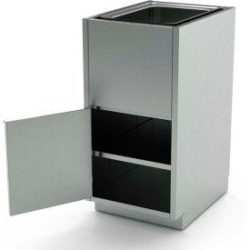 Aero Stainless Steel Base Medical Cabinet BC-4300 - 1 Hinged Door, Shelf, Sink Bowl, 18x21x36