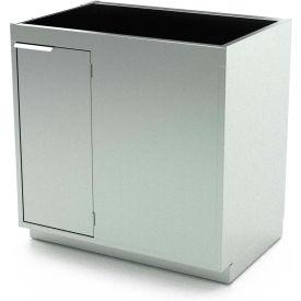 Aero Stainless Steel Base Medical Cabinet BC-4404 -2 Hinged Doors 1 Shelf, Sink Bowl, 52x21x36