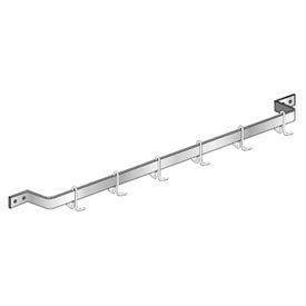 "Aero Manufacturing SBSPR-36 36""W x 6""D SS NSF Single Bar Wall Mounted Pot Rack"