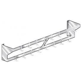 "Aero Manufacturing WPS-132 132""W x 12""D SS NSF Double Bar Wall Mounted Pot Rack"