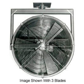 "Americraft 36"" EXP Alum Propeller Fan W/ 2 Way Swivel Yoke 36DA-52Y-3-EXP-5 HP 23000 CFM"
