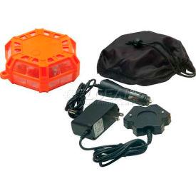 Super LED Road Flare - Safety Orange Housing - Single Pack with Red LEDs - Pkg Qty 4
