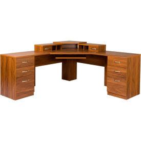 American Furniture Classics - L Workcenter W/Monitor Platform, Autumn Oak