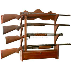 American Furniture Classics 840 Wood Gun Wall Rack, 4 Long Guns