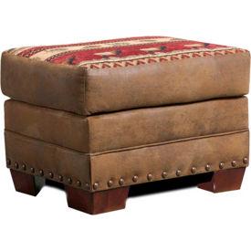 American Furniture Classics Sierra Lodge Ottoman, 100% Cotton Tapestry