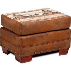 American Furniture Classics Alpine Lodge Ottoman, 100% Cotton Tapestry