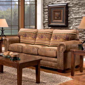 American Furniture Classics Wild Horses Sofa, 100% Cotton Tapestry