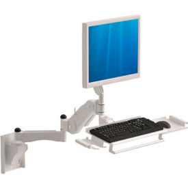 Wall Mount Arm with Keyboard & Mouse Tray - Extends 3 Ft. and 5 In.