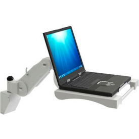 Wall Mount Laptop Tray with Handle - Putty