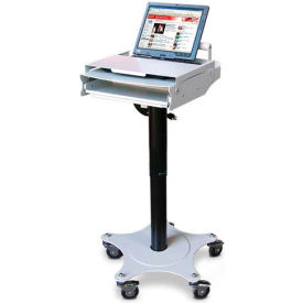 """PC Cart™ with 19"""" Star-Shaped Footprint & Laptop Lock"""