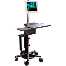 Pole Cart™ w/ Utility Shelf, Keyboard & Mouse Tray, CPU Holder