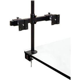 LCD / Flat Panel Monitor Holder For Dual LCD Monitor w/ Table Clamp
