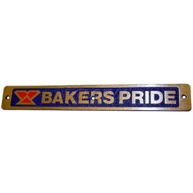 Nameplate For Bakers Pride, BKPU1043X by