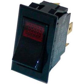 Rocker Switch, 250V, 20A, Black W/Red Light, For Star, 2E-70411