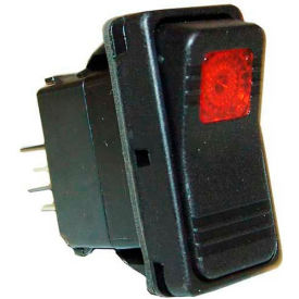 Power Switch, 125/250V, 10/15A, Black W/Red Light, For Southbend, 1178700