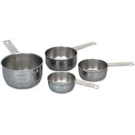 Click here to buy Alegacy 1190MC Stainless Steel Measuring Cup Set, Solid Handle Package Count 12.