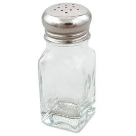 Pizza supplies pizza display serving alegacy 154sp square salt shaker glass 2 oz - Salt and pepper shaker display case ...