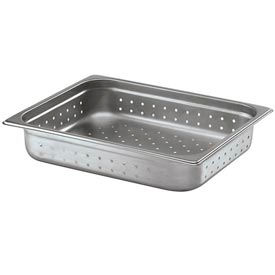 Alegacy 22126P 11 Qt. Half Size Steam Table Pan Perforated Anti Jam, 22 Ga. Package Count... by