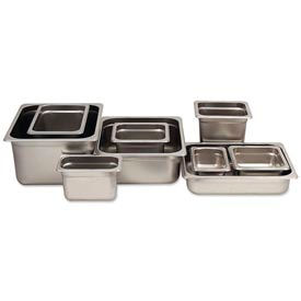 Alegacy 55166 2-3/4 Qt. 1/6 Size Steam Table Pan Anti-Jam, 25 Ga. Package Count 12 by