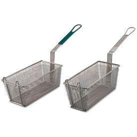 Alegacy 79204 - Wire Rectangular Fry Basket w/ Green Plastic Handle, 13 x 5-3/8 - Pkg Qty 12