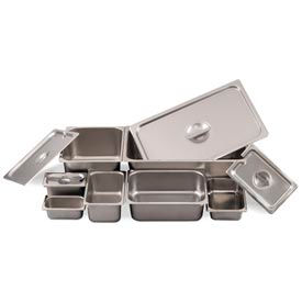 Alegacy 8146 4.5 Qt. 1/4 Size Steam Table Pan, 24 Ga. Package Count 12 by