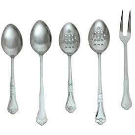 """Alegacy DSP13P Barocco Serving Spoon, Perforated, 13"""" Package Count 12 by"""