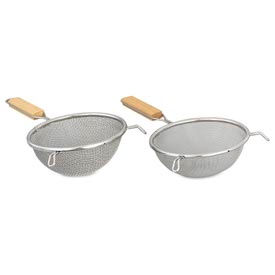 """Alegacy S8198 - Stainless Steel Double Mesh Strainer - 8"""" Medium - Pkg Qty 12"""