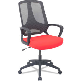 Alera® Mesh Mid-Back Office Chair - Fabric - Red - MB Series