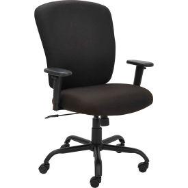 Alera® Big and Tall Fabric Chair - Black - Mota Series