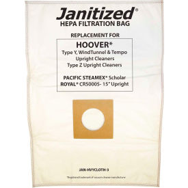 Hoover Paper Vacuum Bag - Type Y Uprights, Windtunnel, Tempo, Type Z Uprights.