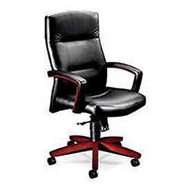 Hon® 5000 Series Executive High Back Loop-Arm Swivel/Tilt Leather Chair