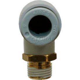 Smc® Male Elbow Kq2l10-03as-X34, Kq2 Series, 10mm O.D. - Pkg Qty 10