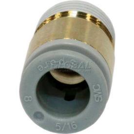 Smc® Hex Socket Head Male Connector Kq2s06-01as-X12, Kq2 Series, 6mm O.D. - Pkg Qty 10