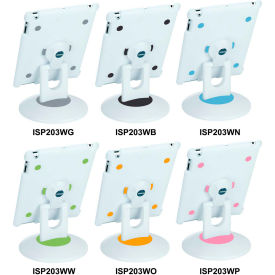 Aidata ISP203WN SpinStation Multifunction Stand for iPad 2, White Shell with White and Blue Base