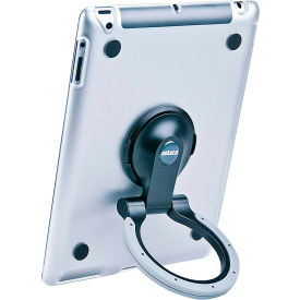 Aidata ISP502CBG SpinStand for iPad 2, 3 & 4, Clear Shell with Black and Gray Ring