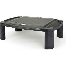 Aidata MR-1001B Height Adjustable Professional Monitor Riser, Black