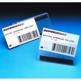 "Label Holders, 3"" x 5"", Clear, Hook/Loop - Top Load (50 pcs/pkg)"