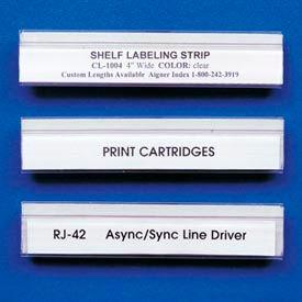 """Label Holder, """"J"""" Design, 7/8"""" x 4"""", Clear (200 pcs/pkg)"""