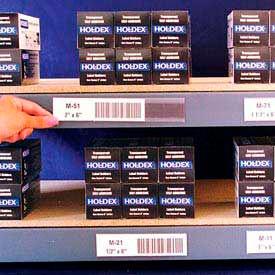 "Label Holders, 1-1/2"" x 6"", Clear, Magnetic (12 pcs/pkg)"