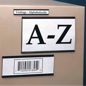 "Magnetic ""C"" Channel Label Holder, 1"" x 12"" (25 pcs/pkg)"