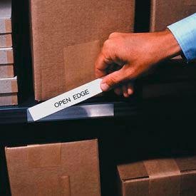 "Label Holder, Economy Strips, 1/2"" x 6"", Clear (50 pcs/pkg)"